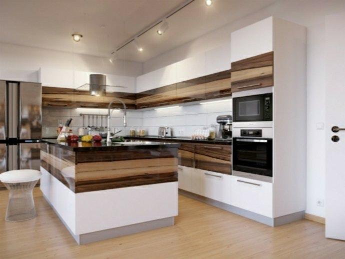 Küchen Holz Modern Mit Kochinsel Schön On überall Kuchen Das 6