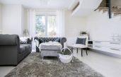 Landhaus Wohnzimmer Lila Grau