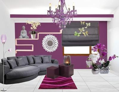 Landhaus Wohnzimmer Lila Grau Frisch On Auf Houzzilla Com 6