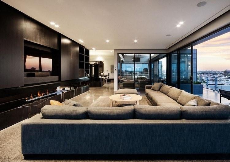 Luxus Wohnzimmer Modern Mit Kamin Einfach On In Bezug Auf Interior Design Und 5