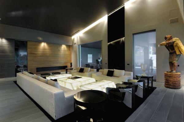 Luxus Wohnzimmer Modern Mit Kamin Einzigartig On Beabsichtigt 9