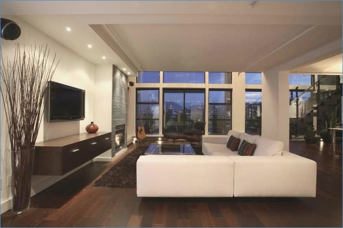 Luxus Wohnzimmer Modern Mit Kamin Interessant On überall Hängelampe Readaloud Co 3