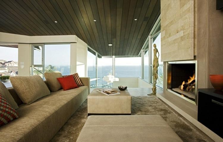 Modern Rustikale Wohnzimmer Mit Kamin Erstaunlich On Beabsichtigt Interessant Und 1