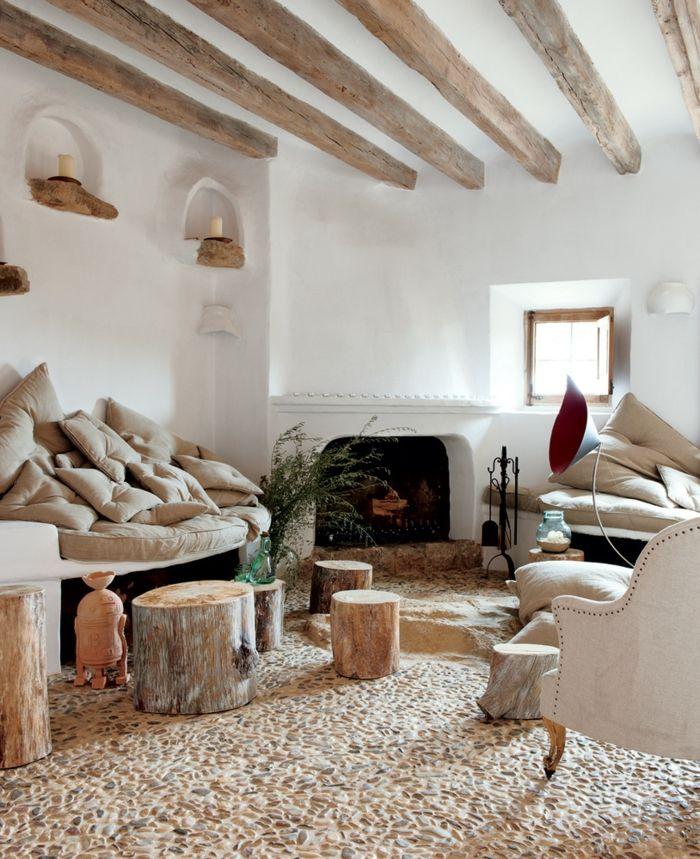 Modern Rustikale Wohnzimmer Mit Kamin Erstaunlich On überall Unglaublich In 9