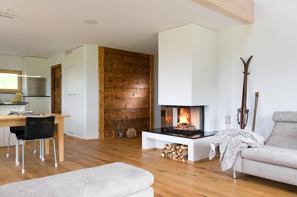 Modern Rustikale Wohnzimmer Mit Kamin Nett On In Glnzend Bezug Auf 3