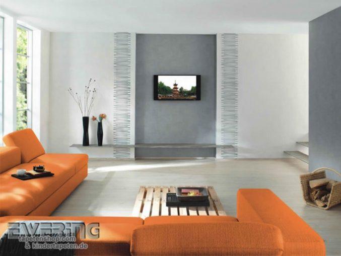 Modern Tapezieren Bemerkenswert On Für Wohnzimmer Wohndesign 5