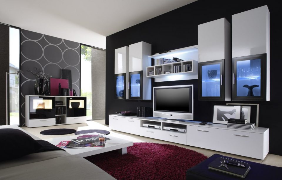 Modern Weiss Schön On Für 82 Italienische Wohnzimmer Wohnwand Schrankwand 8