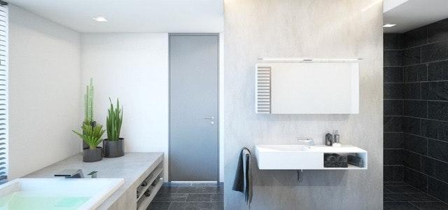 Moderne Badewanne Eingemauert