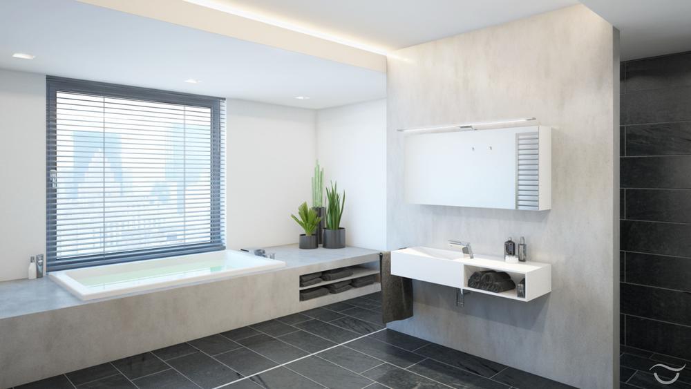 Moderne Badewanne Eingemauert Großartig On Modern Mit Ziel Bad Steinmauer Neben Der 6