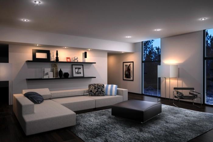 Moderne Einrichtung Unglaublich On Modern Auf Wohnzimmer Wohnwand Schraenke Foto Bild 7
