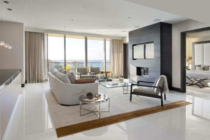 Moderne Fliesen Wohnzimmer Fein On Modern In 86 Beispiele Warum Sie Den Wohnzimmerboden 5