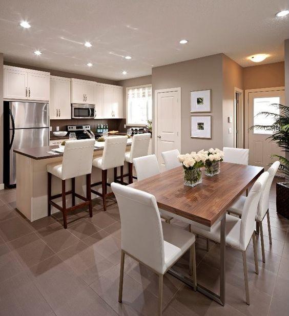 Moderne Küche Mit Essecke Und Wohnzimmer Charmant On Modern Kuche For Designs Fur Kreativ 5