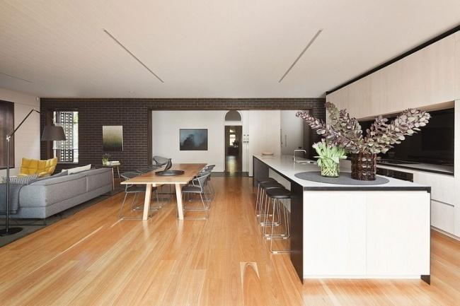 Moderne Küche Mit Essecke Und Wohnzimmer Exquisit On Modern Kuche Houzzilla Com 7