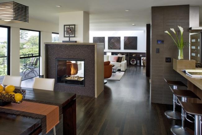 Moderne Küche Mit Essecke Und Wohnzimmer Herrlich On Modern Innerhalb Kuche For Designs Gebaude 2