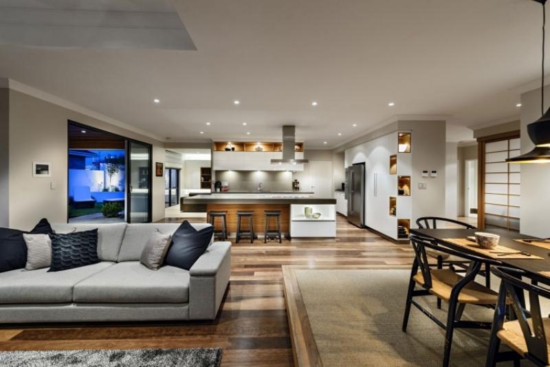 Moderne Küche Mit Essecke Und Wohnzimmer Modern On Beabsichtigt Schön 4