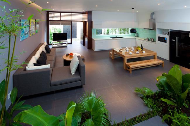 Moderne Küche Mit Essecke Und Wohnzimmer Stilvoll On Modern Kuche For Designs Wohn 9