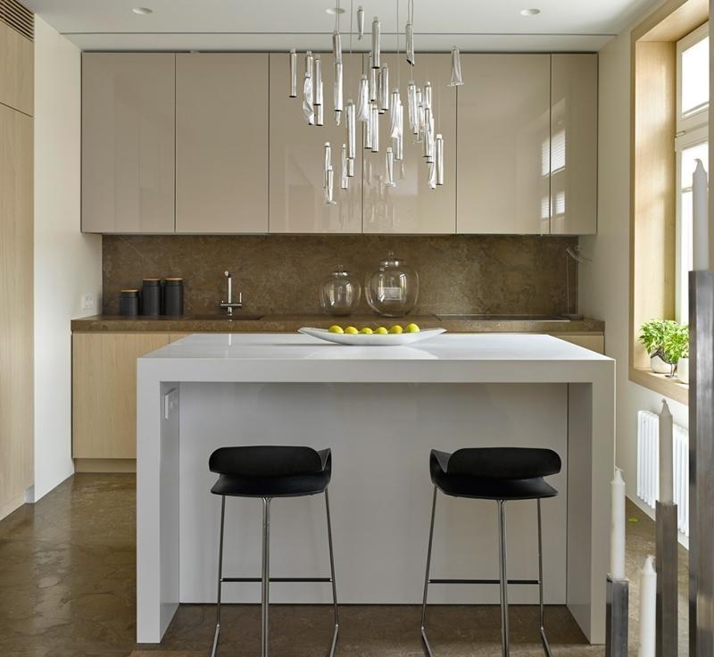 Moderne Küche Mit Kleiner Insel Bescheiden On Modern Und Ideen Ansicht Cloiste 5