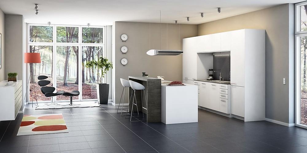 Moderne Küche Mit Kleiner Insel Glänzend On Modern In Bezug Auf Kuche Für Remarkable Designs 2