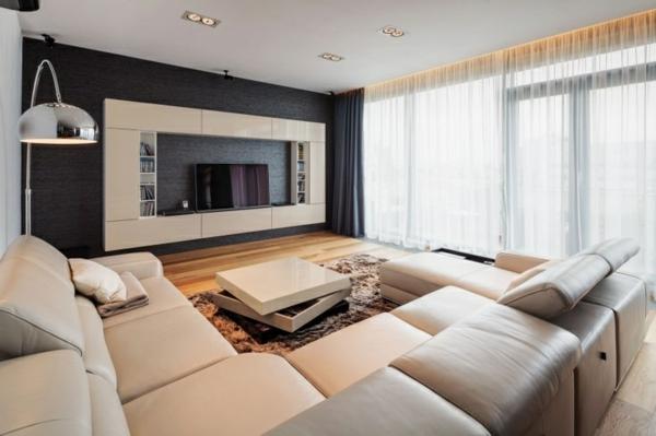 Moderne Wohnzimmer Bescheiden On Modern Für Beige Modernes Herrlich Und Large Size 9
