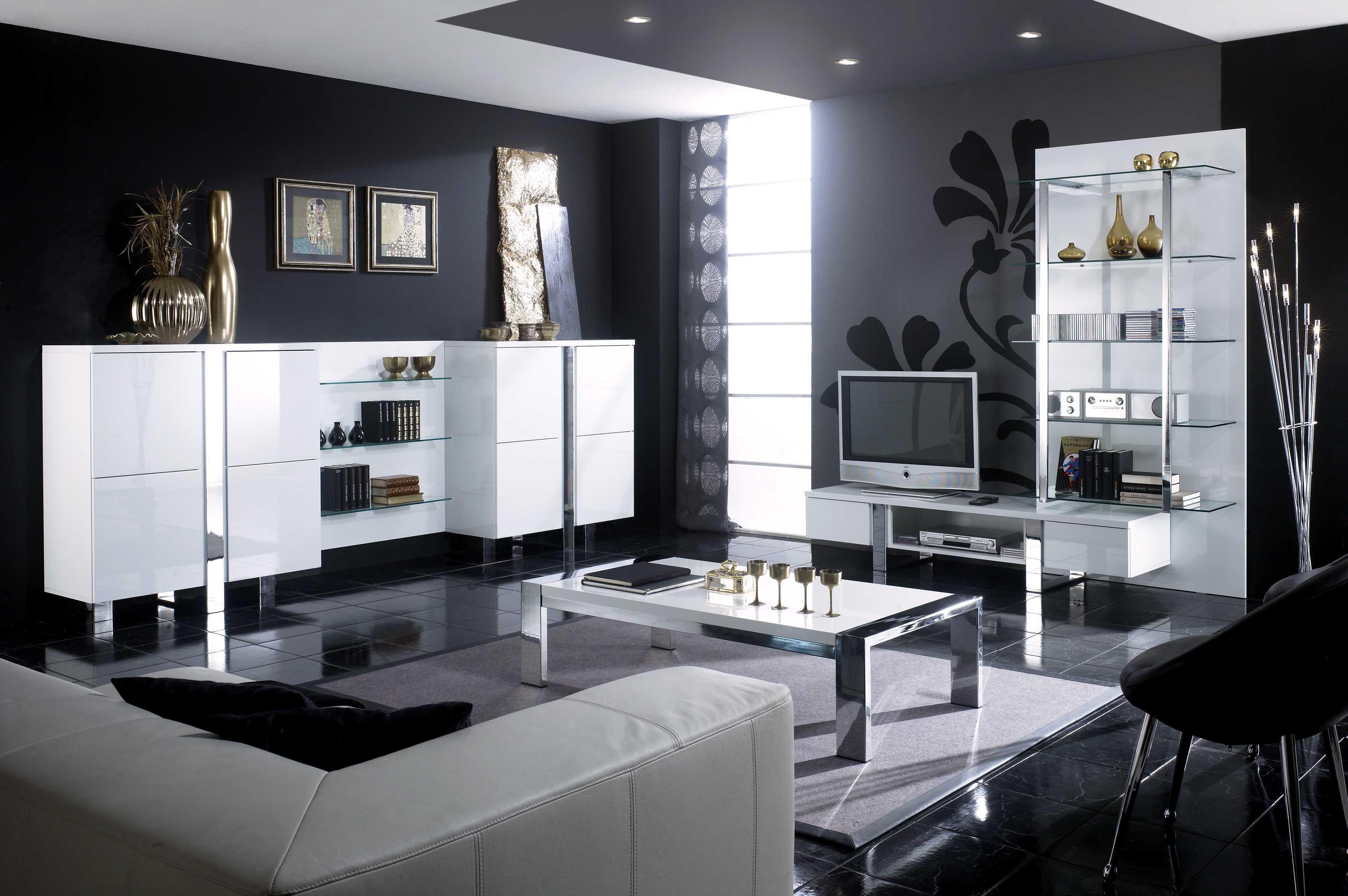 Moderne Wohnzimmer Schwarz Weiss Bemerkenswert On Modern Auf Deko Atemberaubend Wei 4