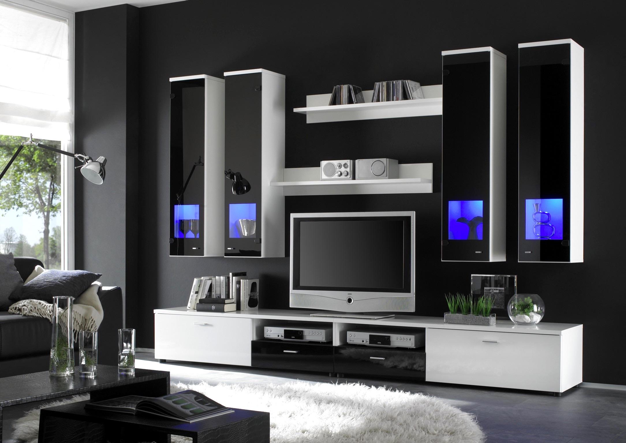 Moderne Wohnzimmer Schwarz Weiss Glänzend On Modern Für Deko Weis Ausgezeichnet Die Besten 3
