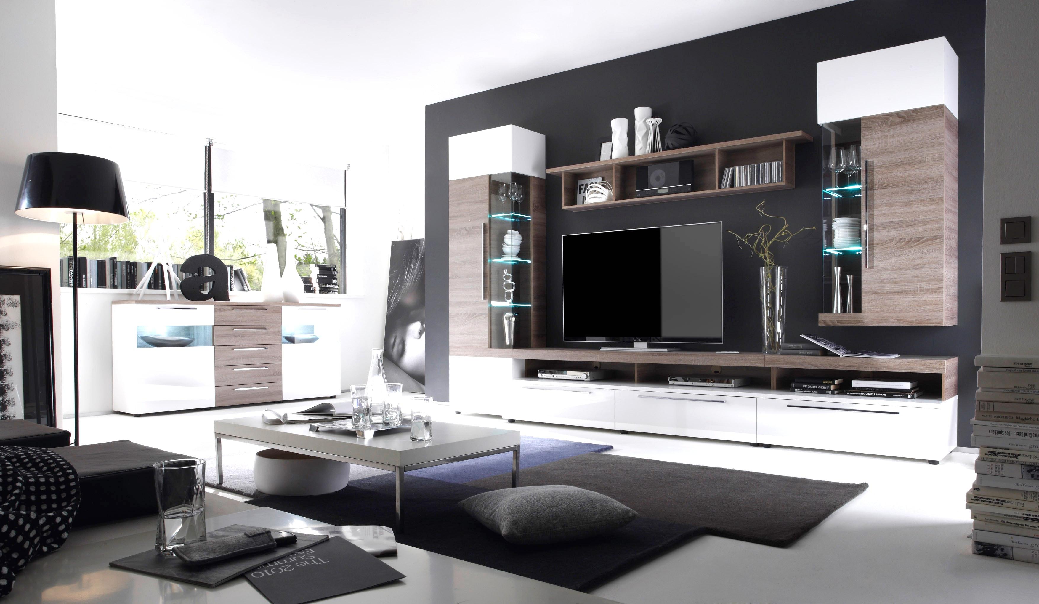 Moderne Wohnzimmer Schwarz Weiss Nett On Modern Auf Cool Modernes Laminat 2 Govconip Com 7