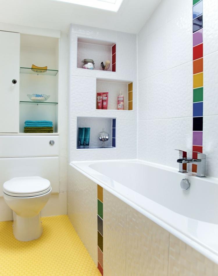 Modernes Bad Bunt Beeindruckend On Modern Für Angenehm Moderne Deko Idee Auch Badezimmer 9