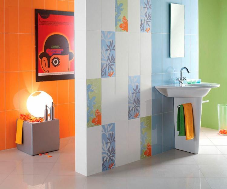 Modernes Bad Bunt Imposing On Modern Mit Farben Im Für Ein Angenehmes Ambiente 20 Ideen 5