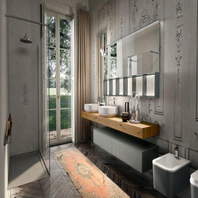 Modernes Bad Bunt Modern On Und Uncategorized Moderne Dekoration Design Badezimmer 8