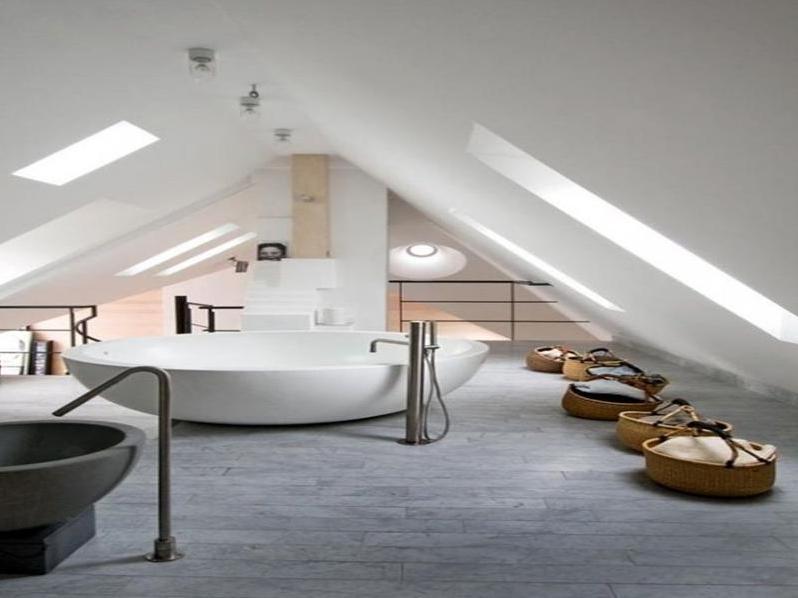 Modernes Einrichten Dachgeschoss Unglaublich On Modern Und Andere Szene Badezimmer Ideen 1 6