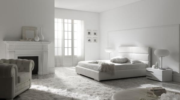 Modernes Schlafzimmer Weiß Zeitgenössisch On Modern Für Minimalismus Zu Hause Einladen Ideen In 6