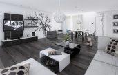 Modernes Wohnzimmer Schwarz Weiß