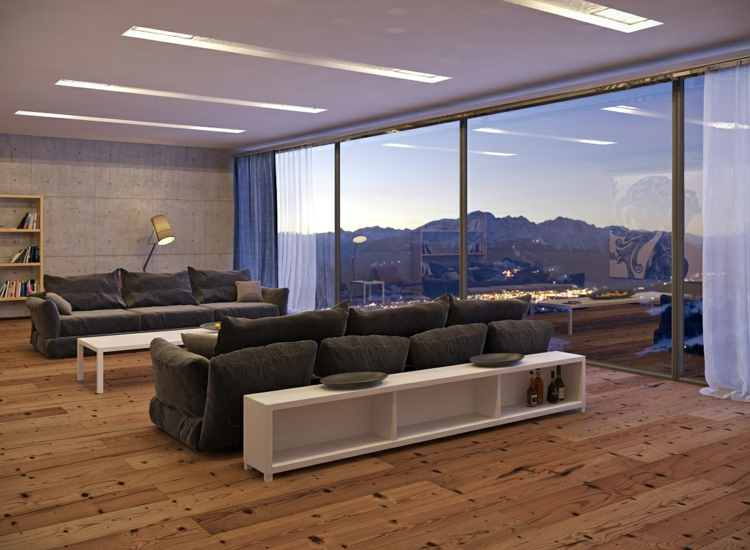 Natur Wand Im Wohnzimmer Beeindruckend On In Fur 35 Ideen Zur Gestaltung Von Fußboden 8
