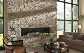 Natursteinwand Wohnzimmer