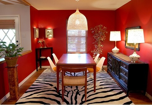Rote Wand Esszimmer Nett On Andere Auf Hervorragendes Rotes Design 4