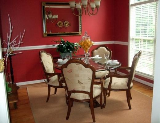 Rote Wand Esszimmer Unglaublich On Andere Mit Fesselnd Zuhause Farbe Zusätzlichen Letzte 1