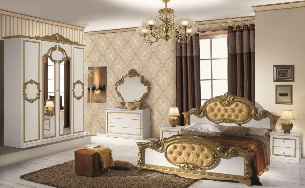Schlafzimmer Gold Kreativ On Und Refinado In Weiß Italien Klassik Barock 160x200 3