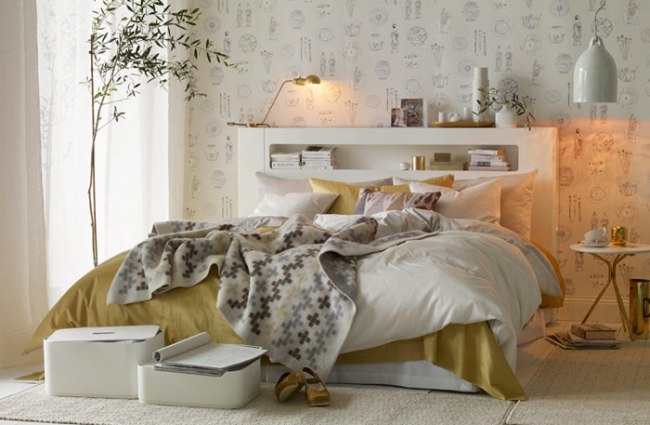 Schlafzimmer Gold Stilvoll On Und Im Skandinavischen Stil Elegante Weiß Kombination 9