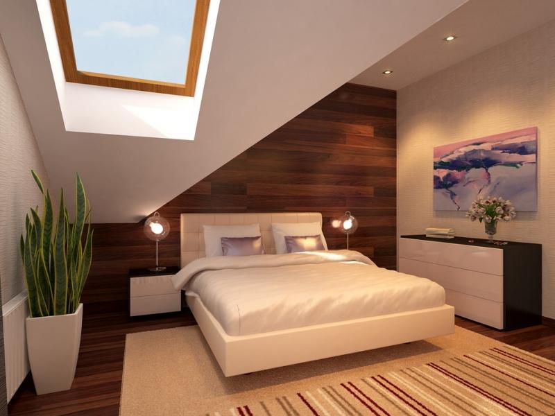 Schlafzimmer Ideen Mit Schrägen
