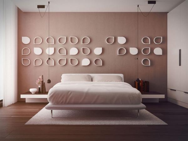 Schlafzimmer Ideen Wandgestaltung Perfekt On Beabsichtigt 40 Coole Für Effektvolle 4