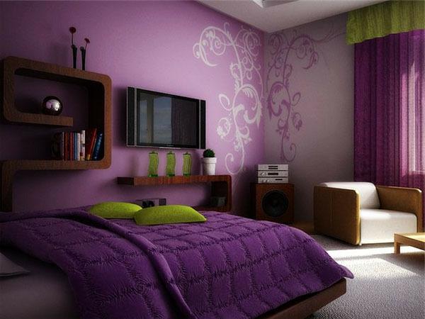 Schlafzimmer In Lila Bemerkenswert On Innerhalb 31 Super Kreative Beispiele Archzine Net 3