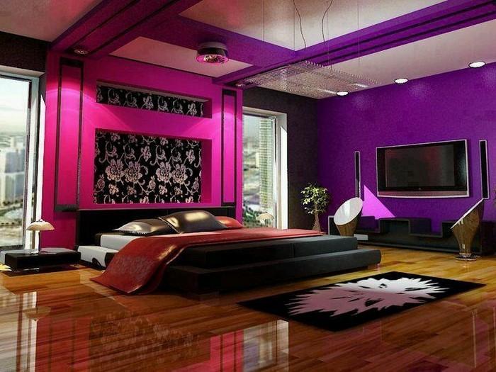 Schlafzimmer In Lila Charmant On Auf Dekor 8