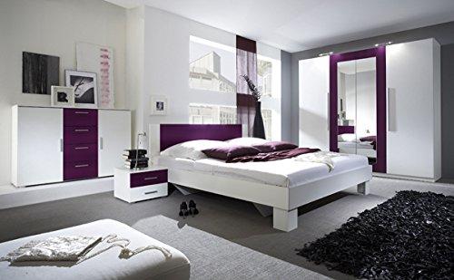Schlafzimmer In Lila Fein On Für Komplett 54018 4 Teilig Weiß Amazon De Küche