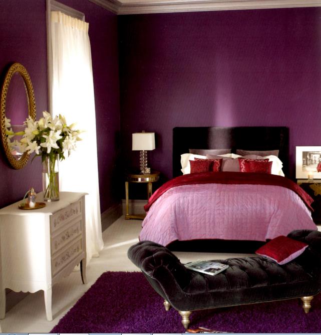 Schlafzimmer Lila Wand Fein On Beabsichtigt Farbe Mit Einer Passenden Decke 7