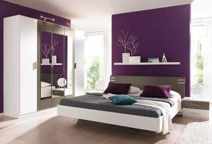 Schlafzimmer Lila Wand Fein On In Ausgezeichnet Innerhalb 1