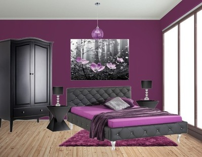 Schlafzimmer Lila Wand Frisch On In Wesen Auf Zusammen 5