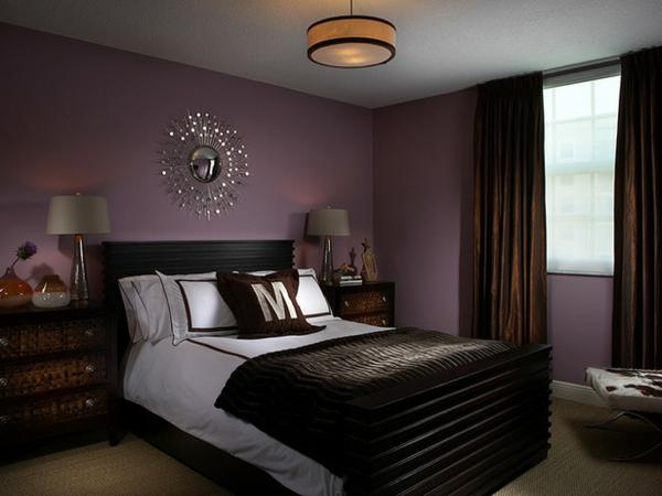 Schlafzimmer Lila Wand Nett On Und Ausgezeichnet Innerhalb 4