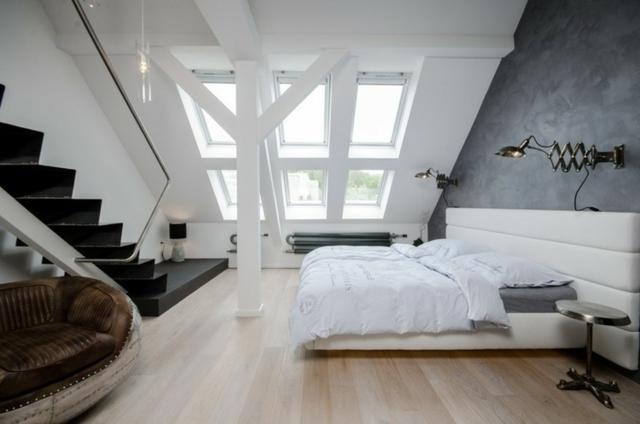 Schlafzimmer Modern Wandschräge Charmant On Für Wohnung Dachschräge Einrichten Ideen 3