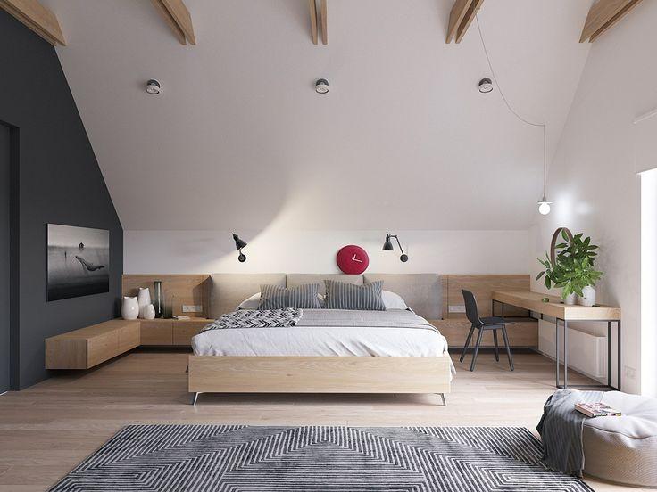 Schlafzimmer Modern Wandschräge