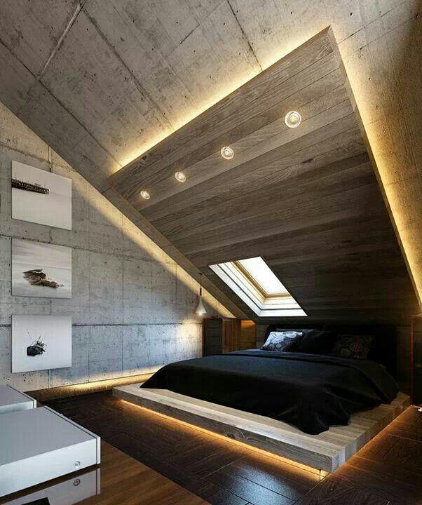 Schlafzimmer Modern Wandschräge Stilvoll On Mit Interessant Innerhalb Plus 5